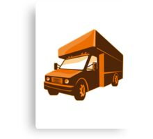 moving truck delivery van retro Canvas Print
