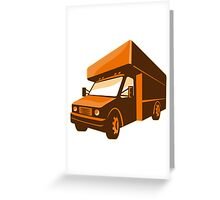 moving truck delivery van retro Greeting Card