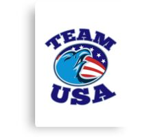 team USA bald eagle american stars and stripes flag  Canvas Print