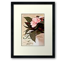 Thinking Of You - Card Impatience Flower Framed Print