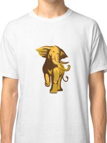african bull elephant charging retro Classic T-Shirt