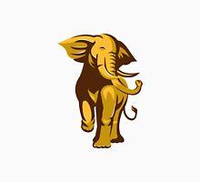 african bull elephant charging retro Unisex T-Shirt