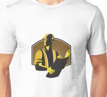 Construction Engineer Worker Building Plan Retro Unisex T-Shirt