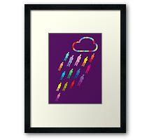 It's raining rainbow gentlemen... Hallelujah! Framed Print