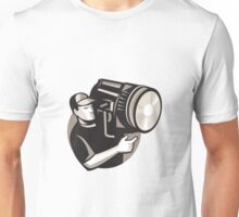 film crew with spotlight fresnel light Unisex T-Shirt