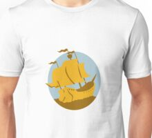 sailing ship galleon retro Unisex T-Shirt