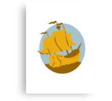 sailing ship galleon retro Canvas Print
