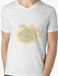 Hand holding basket full harvest crops Mens V-Neck T-Shirt