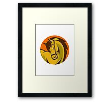 horse stallion head retro Framed Print