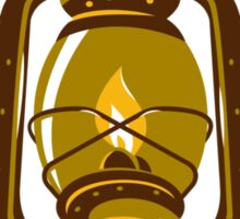 kerosene oil lamp retro Sticker