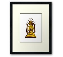 kerosene oil lamp retro Framed Print