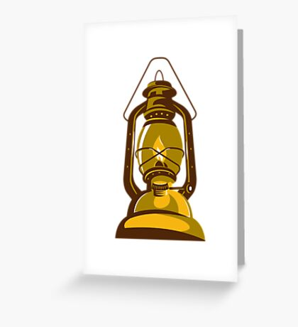 kerosene oil lamp retro Greeting Card