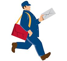 mailman postal worker delivery man by retrovectors