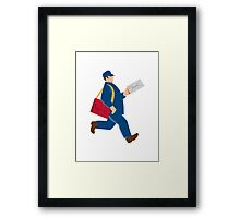 mailman postal worker delivery man Framed Print