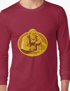 mason brick layer construction worker Long Sleeve T-Shirt