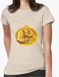 mason brick layer construction worker Womens Fitted T-Shirt