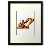 bulldozer front retro Framed Print