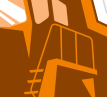mining truck low angle retro style Sticker