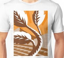 growing plant leaf field mountains Unisex T-Shirt