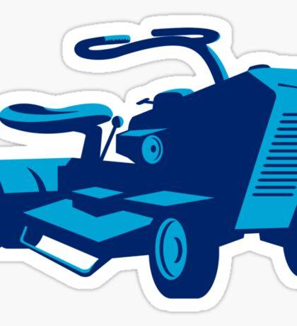 vintage ride on lawn mower retro Sticker