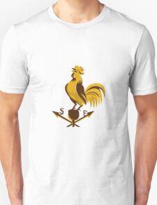 rooster cockerel crowing retro T-Shirt