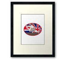 runner track and field athlete british flag Framed Print