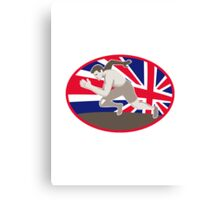 runner track and field athlete british flag Canvas Print