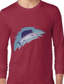 sailfish jumping retro style Long Sleeve T-Shirt