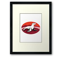 new zealand fur seal retro Framed Print