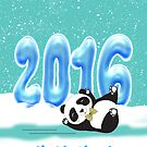 Chinese New Year, Year Of The Monkey 2016 With Panda by Moonlake