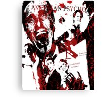American Psycho, Patrick Bateman 'Collage' effect Canvas Print