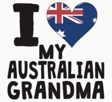 I Heart My Australian Grandma One Piece - Short Sleeve