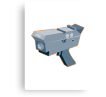mobile speed camera radar gun retro Canvas Print