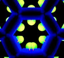 Blue Octagon Sticker