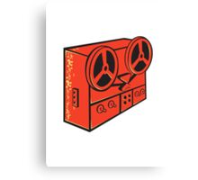 tape recorder reel cassette deck retro Canvas Print