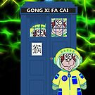 A Blue Police Box With Monkeys, Chinese New Year Fun by Moonlake
