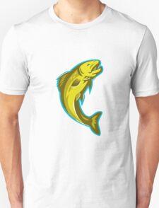 trout fish jumping retro Unisex T-Shirt