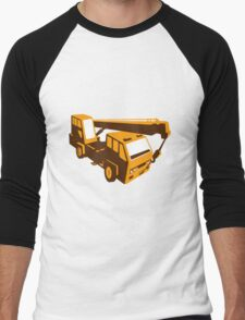 truck crane cartage hoist retro Men's Baseball ¾ T-Shirt