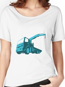 truck crane cartage hoist retro Women's Relaxed Fit T-Shirt