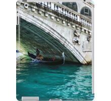 Classic Venice - A Gondola Under Rialto Bridge  iPad Case/Skin