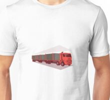 logging truck and trailer retro style Unisex T-Shirt