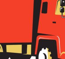 closed delivery van truck retro Sticker