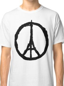 EIFFEL TOWER PEACE SIGN PRAY FOR PARIS Classic T-Shirt