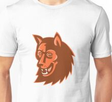 wolf wild dog head retro Unisex T-Shirt