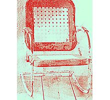 Old Weathered Metal Chair  Photographic Print