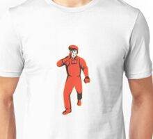 worker marching shouting retro Unisex T-Shirt