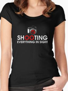 Shooting Everything In Sight Hoodie Women's Fitted Scoop T-Shirt