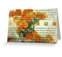 October's Child Birthday Greeting with Marigolds Greeting Card