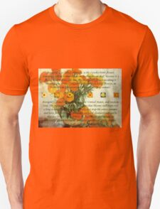 October's Child Birthday Greeting with Marigolds T-Shirt