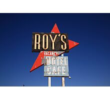 Route 66 - Roy's of Amboy, California Photographic Print